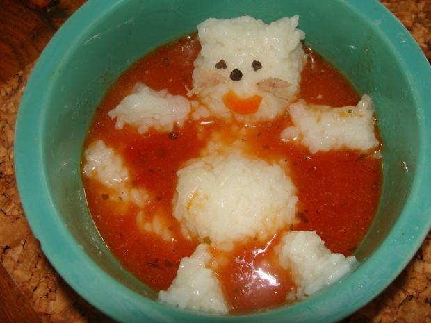 Przepis  zupa pomidorowa na soku dla dzieci przepis