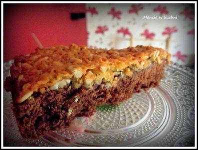 Rajskie ciasto: kokos, słonecznik i karmel