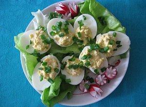 Jajka faszerowane  prosty przepis i składniki