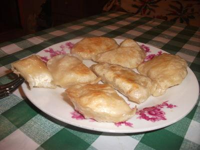 Pierogi pychotki z serem i ryżem na słodko.