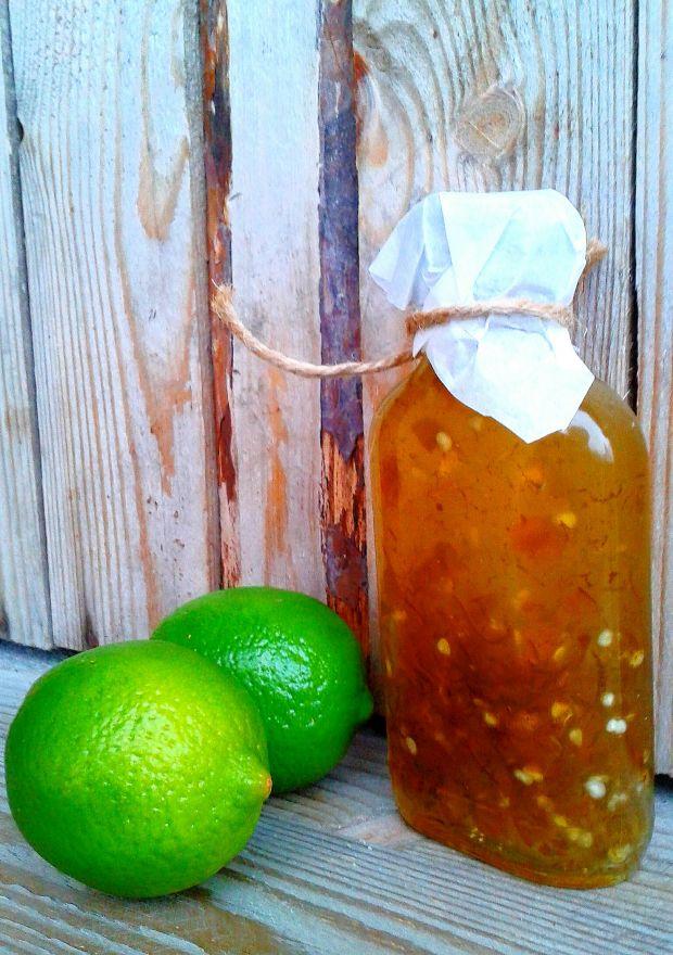 Przepis  zielony sos chilli z limonką przepis