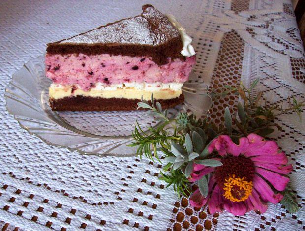 Przepis  ciasto jeżynowe z bezami przepis