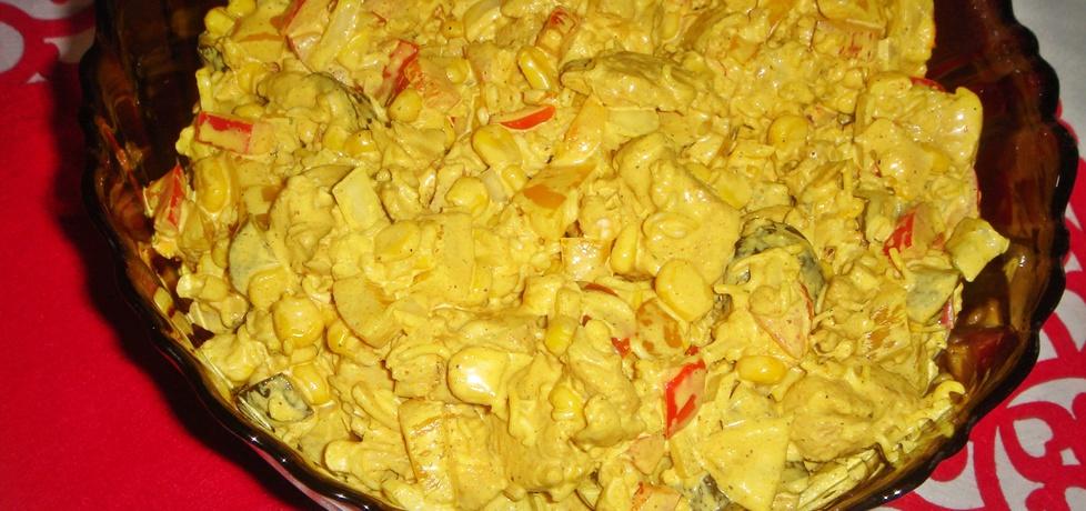 Sałatka z kurczakiem curry (autor: justi2401)