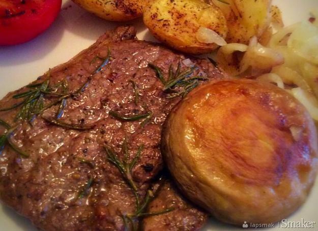 Perfekcyjny stek wołowy ( rump steak)