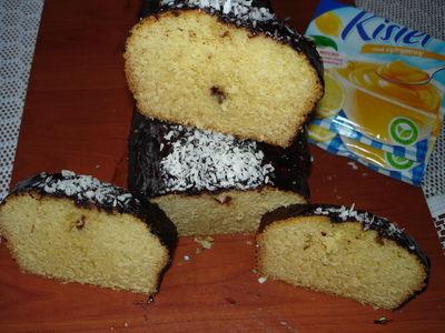 Ciasto cytrynowe w polewie czekoladowej z serkiem waniliowym ...