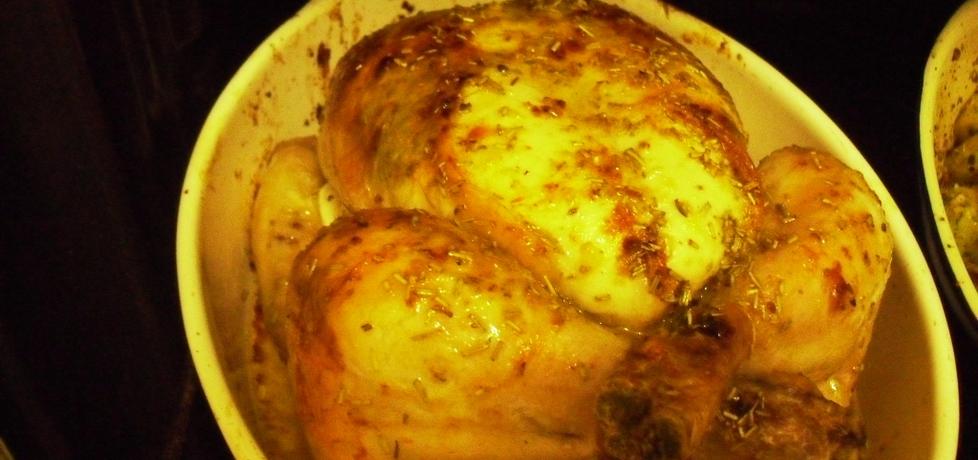 Kurczak pieczony w calosci z rozmarynem i cytryna (autor: anna571 ...