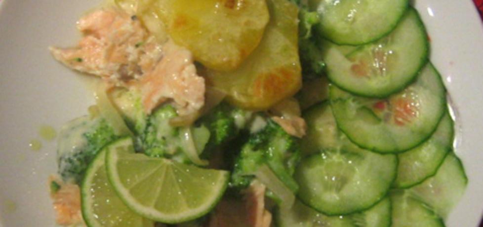 Zapiekanka z łososiem, brokułem i ziemniakami (autor: brioszka ...