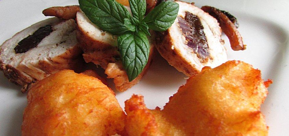 Filet z indyka ze śliwką i karmelizowaną cebulą (autor: anna133 ...