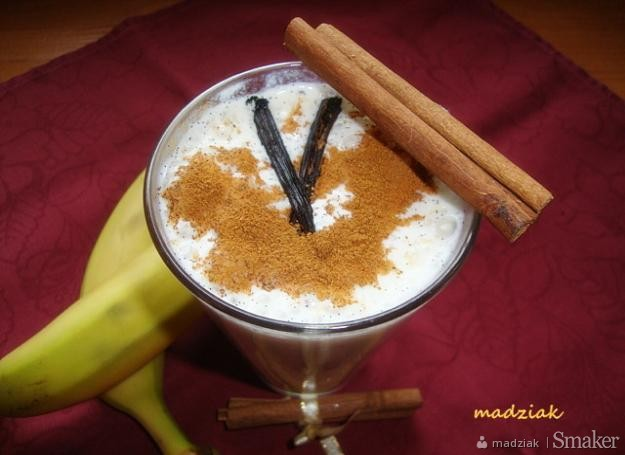 Koktajl bananowo  waniliowy