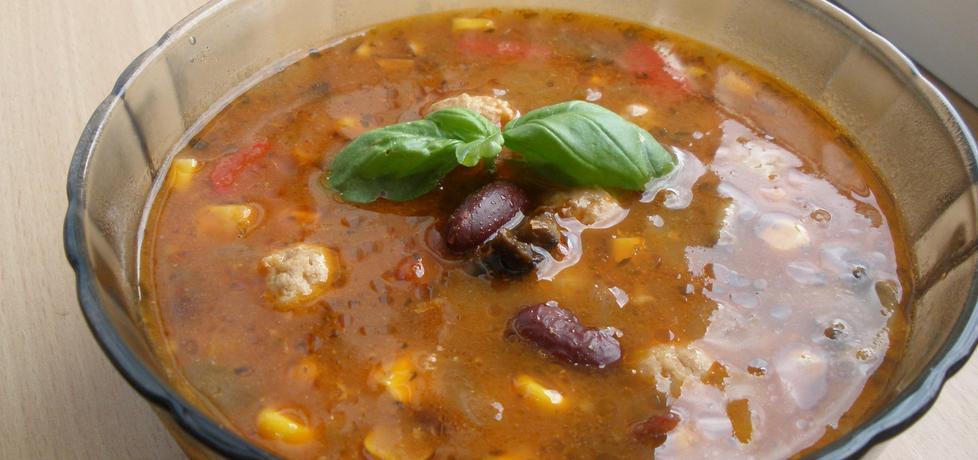 Zupa meksykańska z pulpecikami (autor: cukiereczek13 ...