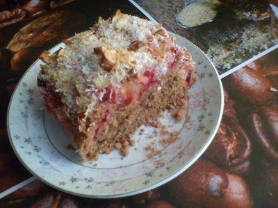 Zdrowe ciasto owsiane ze śliwkami