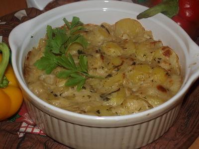 Gratin dauphinois( zapiekanka z ziemniaków)kuchnia francuska ...
