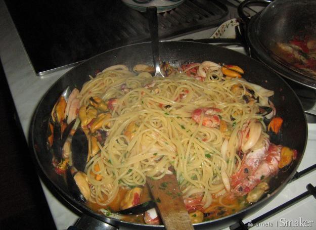 Spaghetti z frutti di mare