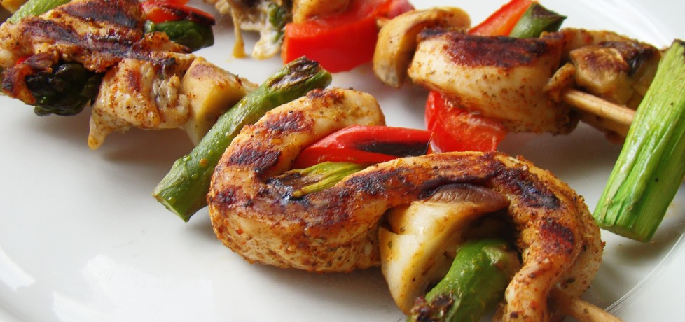 Szaszłyki z kurczaka i szparagów (autor: renia1)