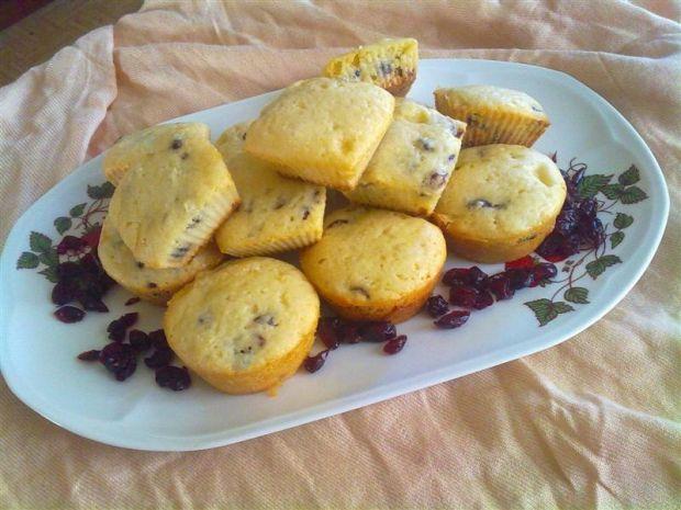 Przepis  muffinki z żurawiną i białą czekoladą przepis