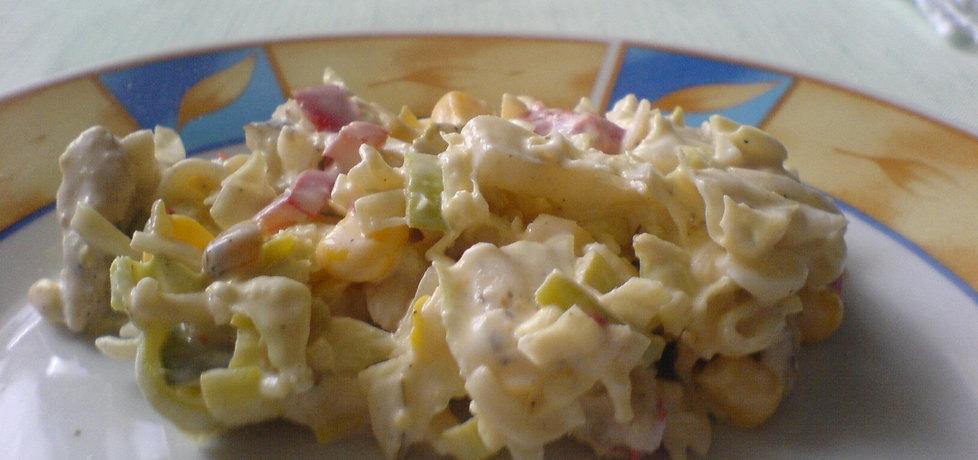 Sałatka z zupki chińskiej i kurczaka (autor: misiek123 ...