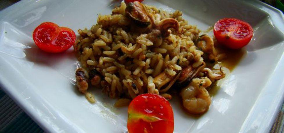 Ryż brązowy z owocami morza (autor: iwa643)