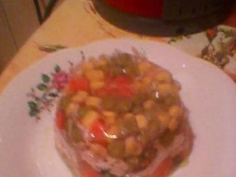 Przepis  galaretka z kurczaka z warzywami przepis