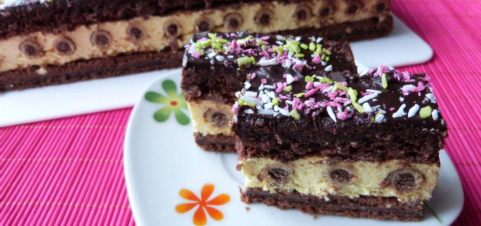 Ciasto kakaowe z rurkami waflowymi (autor: renatazet ...