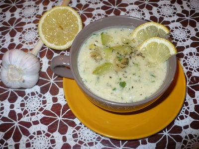 Pikantna zupa krem z pieczonej cukini