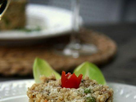 Przepis  risotto bianco z zielonym groszkiem przepis