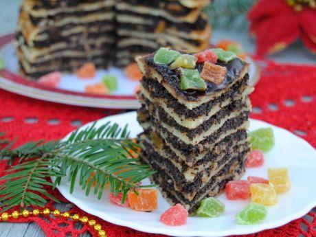 Przepis  świąteczny tort naleśnikowy przepis