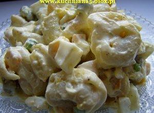 Sałatka tortellini z dynią konserwową