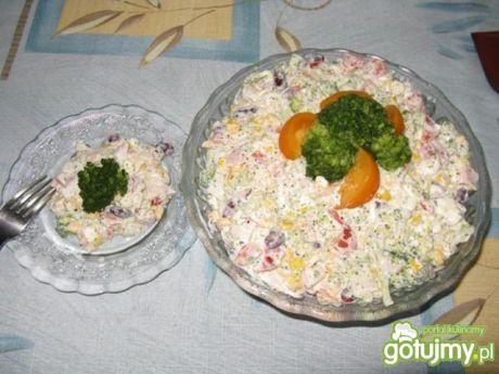Przepis  sałatka brokułowa z sosem tzatziki przepis