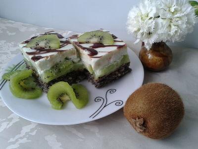 Ciasto biszkoptowe z kiwi