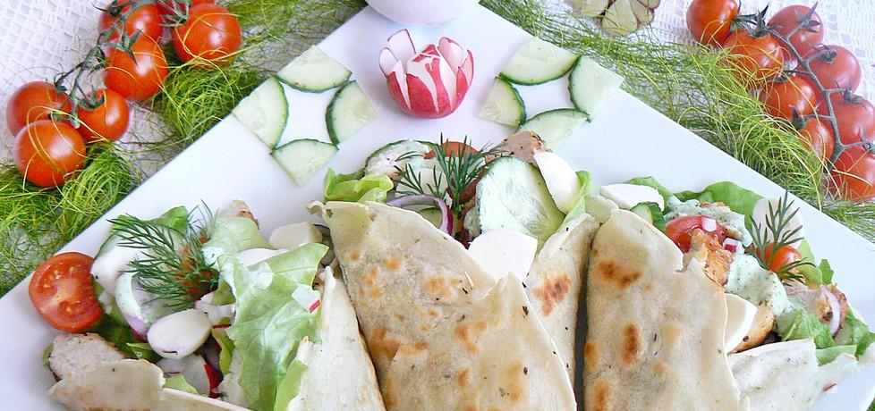 Domowa tortilla z zielonym sosem (autor: mysza75 ...