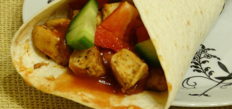 Tortilla z kurczakiem i papryką (autor: kasnaj)