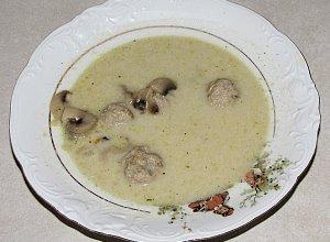Zupa pieczarkowa z klopsikami xxl