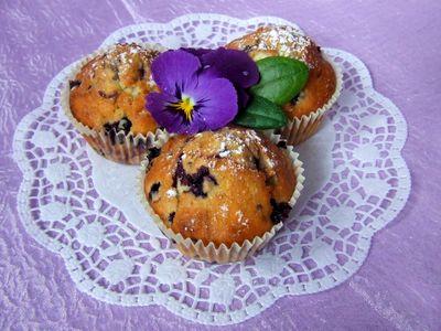 Muffinki jagodowo