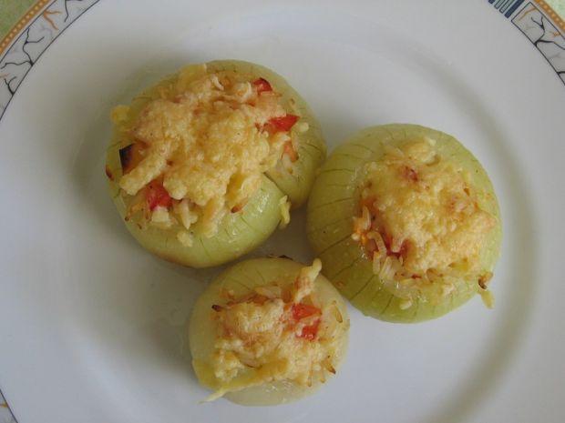 Przepis  cebule faszerowane ryżem przepis