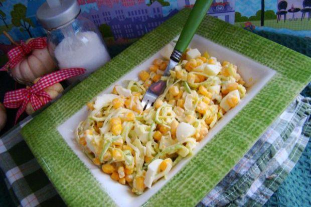 Przepis  sałatka z pora i kukurydzy przepis