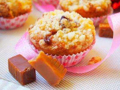 Muffinki krówkowe z jabłkami