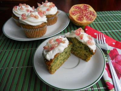 Zielone muffinki