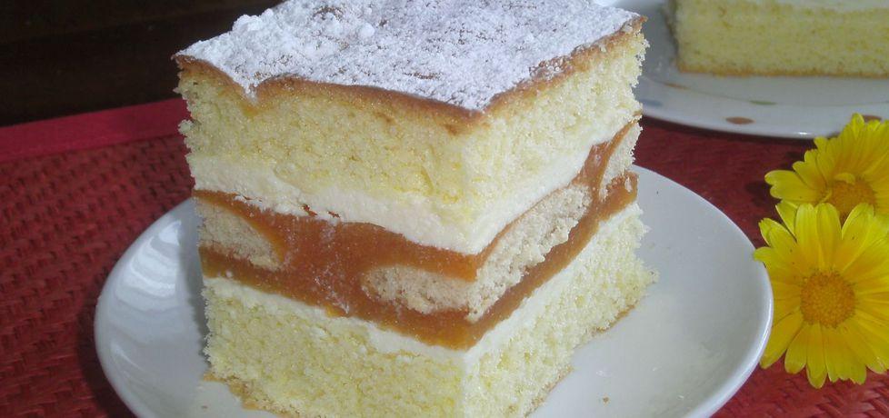Ciasto biszkoptowe z musem brzoskwiniowym (autor: katarzyna59 ...