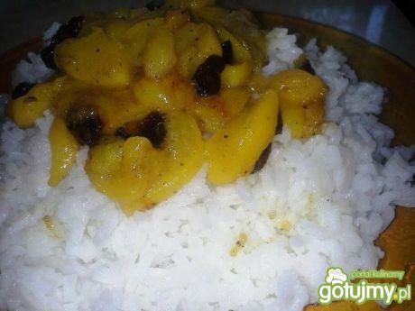 Przepis  ryż z brzoskwiniami 4 przepis
