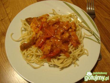 Przepis  spagetti z sosem słodko-kwaśnym przepis