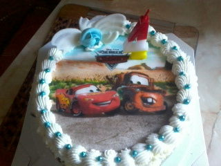 Tort kokosowy mcqueen