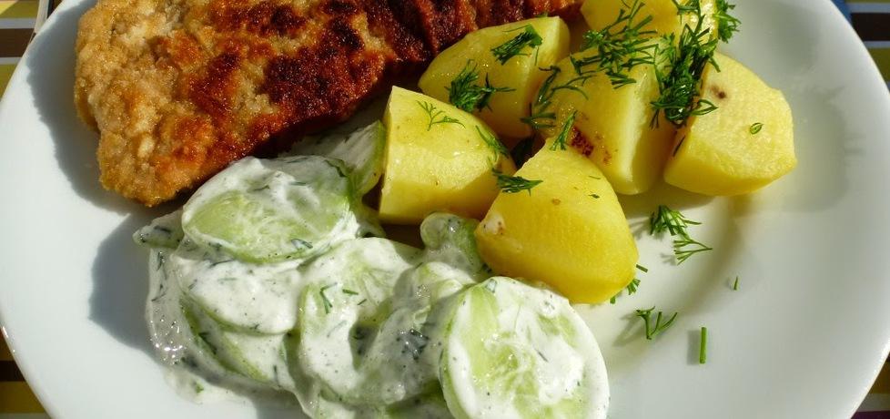 Klasyczny obiadek: kotlet z ziemniakami i mizerią (autor ...