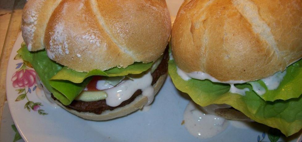 Moje hamburgery z sosem czosnkowym (autor: kaja1991 ...