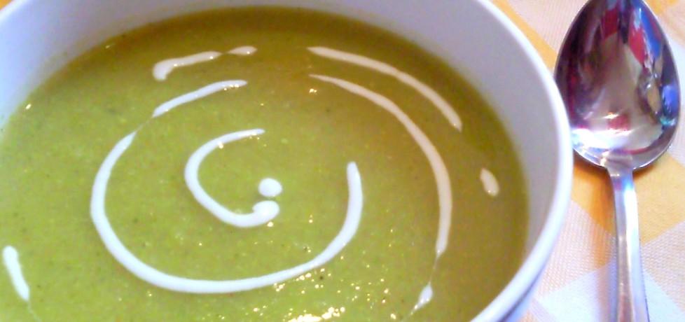 Zupa krem z brokułów z żółtym serem i jogurtem naturalnym (autor ...