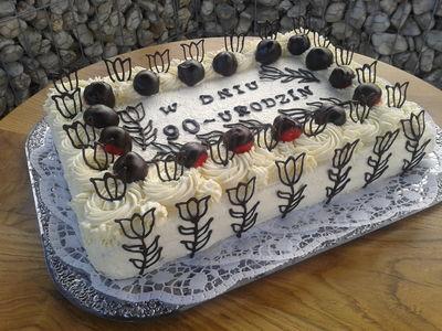 Tort urodzinowy na 90