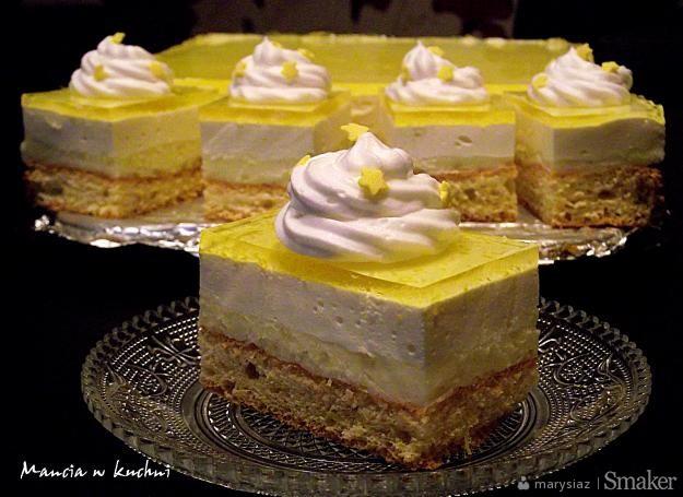 Ciasto cytrynowe z kremem i galaretką