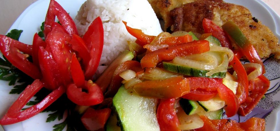 Ryba z duszoną cukinią i ryżem (autor: luna19)