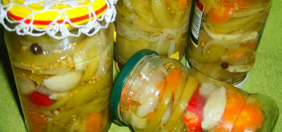 Zielone pomidory w zalewie słodko-kwaśnej z chilli... (autor: w
