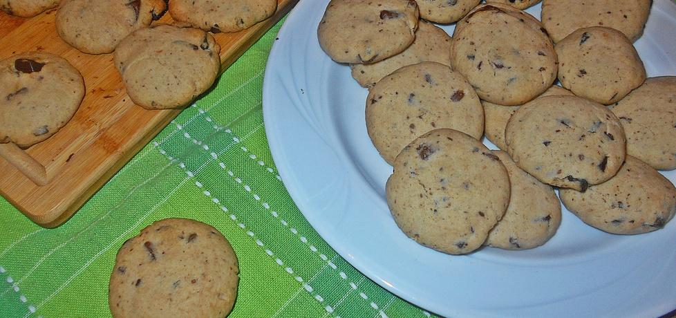 Maślane ciasteczka z mielonym lnem i czekoladą (autor: beatris ...