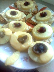 Filety z kurczaka z ananasem i grzybkiem lesnym marynowanym ...